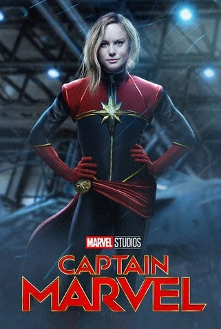 Captain Marvel movie poster image
