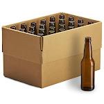 12oz Crown Cap Amber Longneck Bottles, case of 24