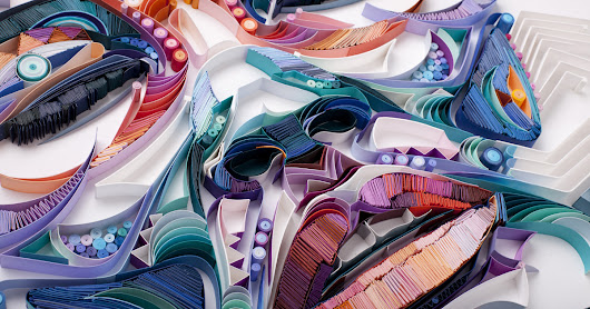 New Colorful Paper Portraits Comprised of Densely Quilled Paper by Yulia Brodskaya