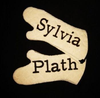Sylvia Plath oven mitts