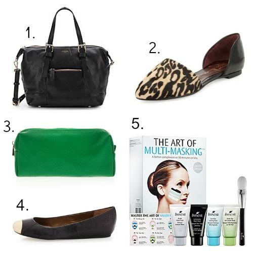 Olivia Harris Handbag - Report Signature Shoes - Neiman Marcus Pencil Case - Sam Edelman Shoes - Boscia Face Masks