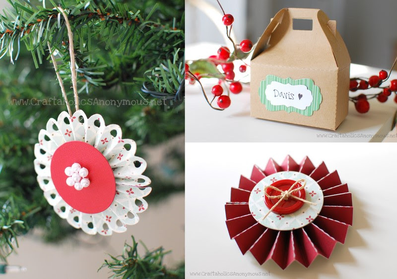 Christmas Tree Decorations Made From Paper Holliday Decorations