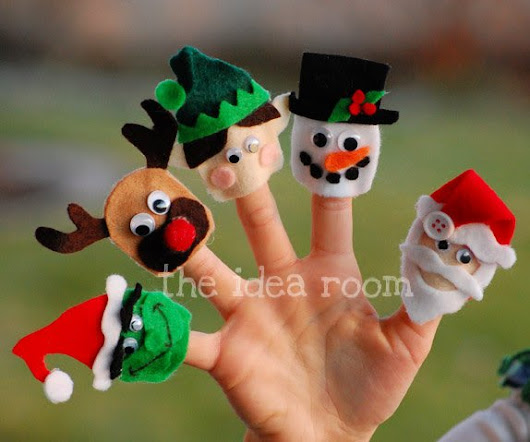 Christmas Crafts for Kids--Finger Puppets