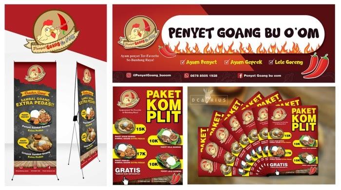 Contoh Desain Banner Ayam Geprek - desain spanduk keren