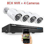 8CH POE 5M NVR Kit CCTV Security System 2MP IR Outdoor Waterproof IP Camera with Mic Audio Record Video Surveillance Set Australia / 2T / Gray