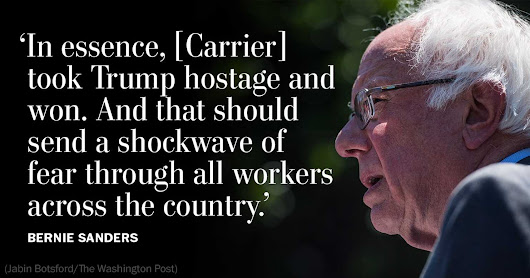 Bernie Sanders: Carrier just showed corporations how to beat Donald Trump