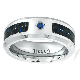 Men Women Cobalt Wedding Band Ring 6mm 0.07ct Blue