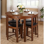 TMS Gino 5-Piece Dining Set, Brown
