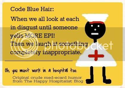 Code blue hair ecard humor