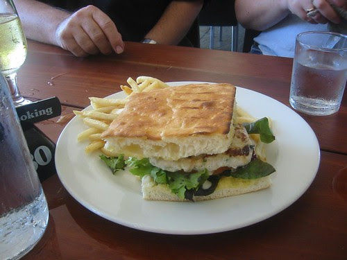 Crocodile Burger at Cornucopia  CafeNorthern Territory Art Gallery and  Museum