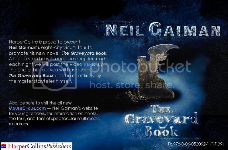 """Click Here to Watch Neil Gaiman read """"The Graveyard Book""""!"""