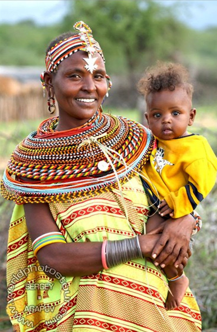 Africa | Samburu woman and child.  Kenya | ©Sergey Agapov