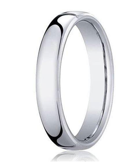 Platinum Rings :: Polished Beveled Edges