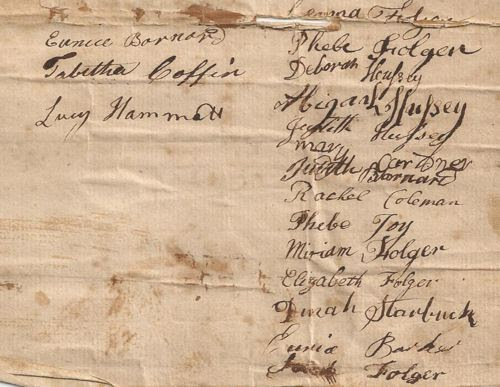 Folger Hussey Marriage Signers 2