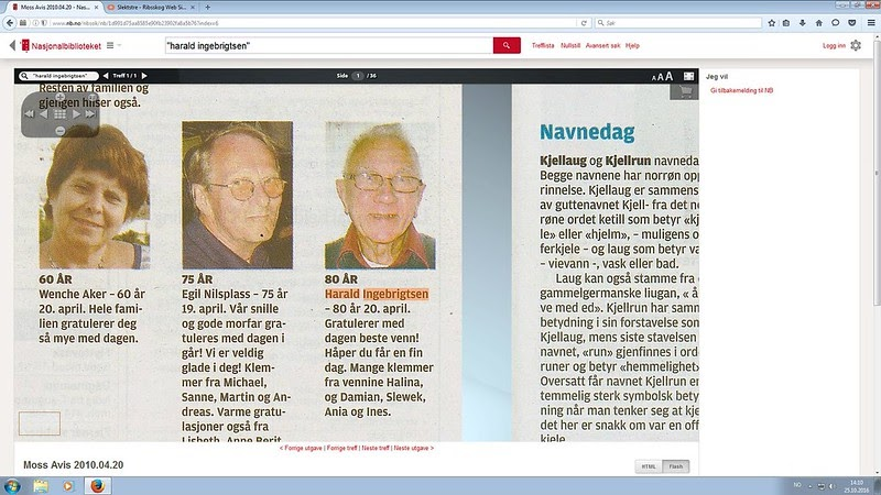 e7d15fd7 johncons: Grethe Ingebrigtsen, (onkel Martin sin eks-samboer), sin far  Harald Ingebrigtsen, har visst ei venninne, som heter Halina