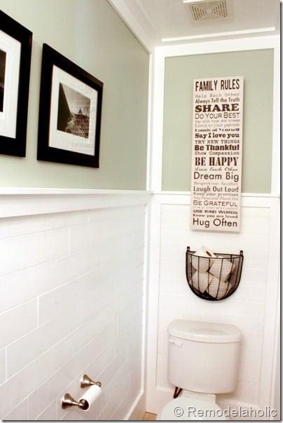Beautiful Half Bathroom Reveal with Plank Walls