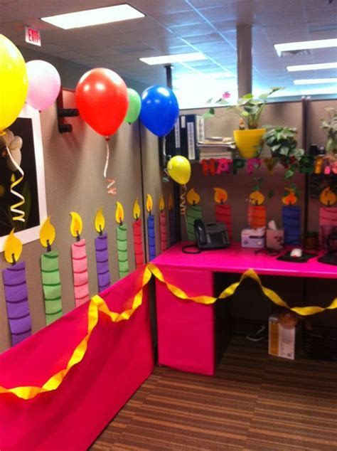 image result  office birthday decorations office
