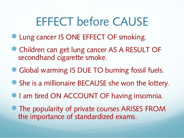 write a cause and effect essay about smoking