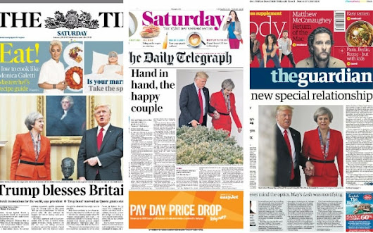 'The Theresa effect': How Donald Trump's meeting with Prime Minister was viewed by America and Britain
