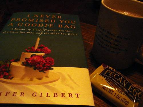 Hot Chocolate, Pecan Egg, and a Book