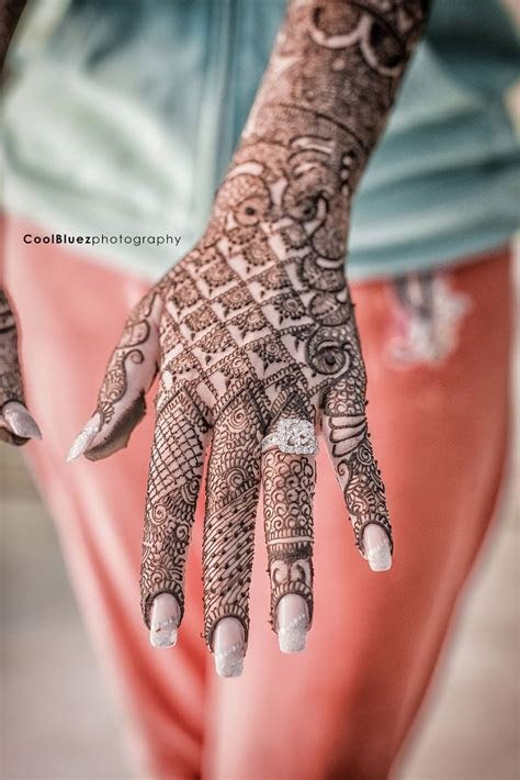 Engagement ring   mehendi   Bridal henna, Wedding mehndi