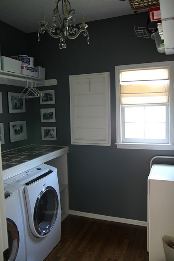 Black White Laundry Room Design Home Design And Interior
