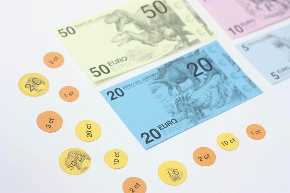 Imprimibles / Dinero para jugar a contar