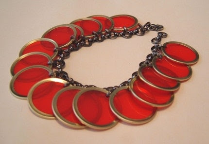 mock frog jewelry bakelite poker chip bracelet