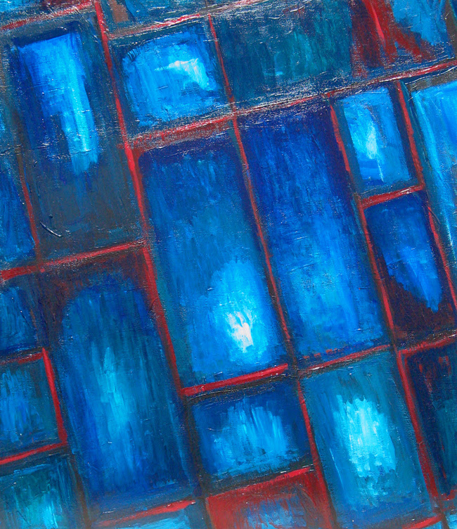 Abstract Blue Stained Glass Abstract Stained Glass Geometric