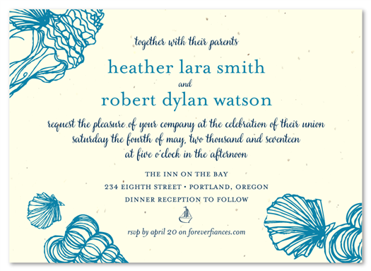 Sea Shell invites