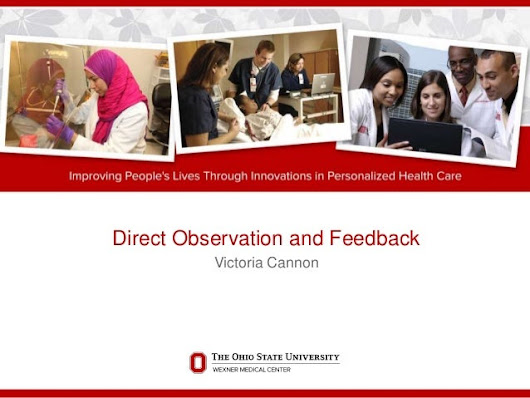 Direct observation and feedback