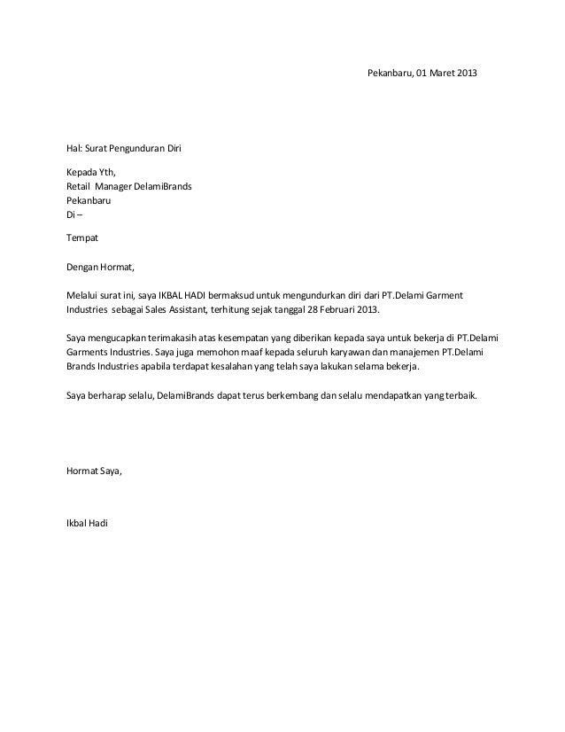 contoh surat pengunduran diri dari partai politik 15 hontoh