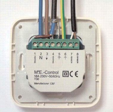 Elektrische vloerverwarming thermostaat aansluiten