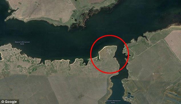 O Cazaquistão pentagrama está situado nas margens do reservatório de Tobol superior