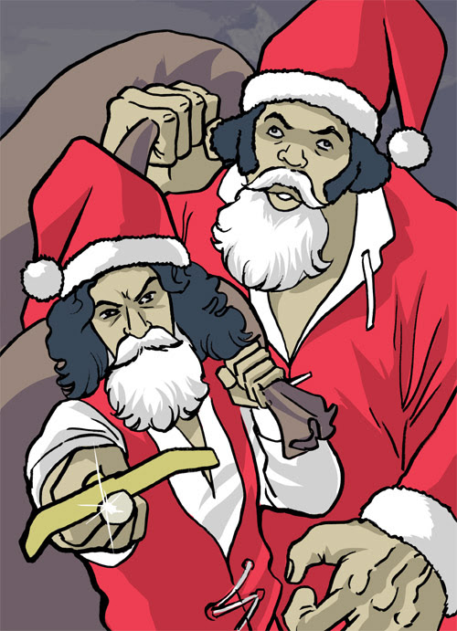 24 - Inigo Montoya Santa and Fezzik Santa