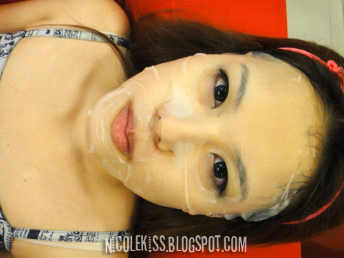 leach me mask on my face