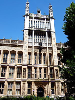 King's College London, clock tower of The Maug...