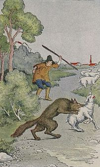 The Boy Who Cried Wolf, illustrated by Milo Wi...