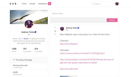 New Twitter alternative Gab grows rapidly with a promise of free speech