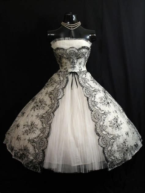 Vintage 1950s Black White Short Wedding Dresses 2016 A