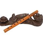 Costbuys Agreeable-Instrument Canal Clarinet Acceptable Wood-Color Amateurs 6-Hole Apprentice Agreeable Instruments