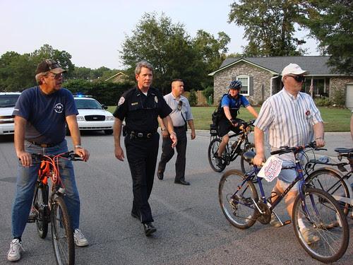 Police Chief Zumalt in the community