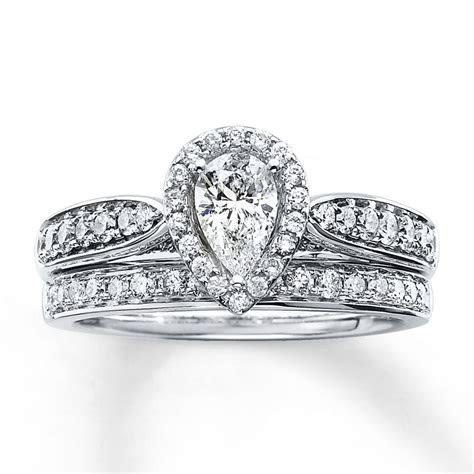 Kay   Diamond Bridal Set 1 1/5 ct tw Pear shape 14K White