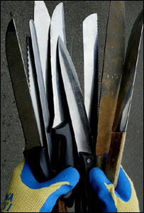 Knives collected in the current amnesty
