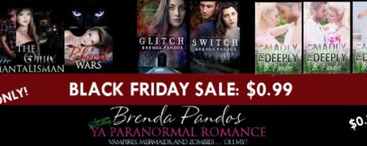 Brenda Pandos - Young Adult/New Adult Paranormal Romance Author: BLACK FRIDAY SALE #99centsale #dynamis #onedayonly