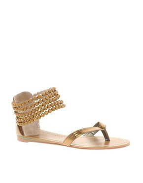 Image 1 ofTimeless Bead Cuff Flat Sandal