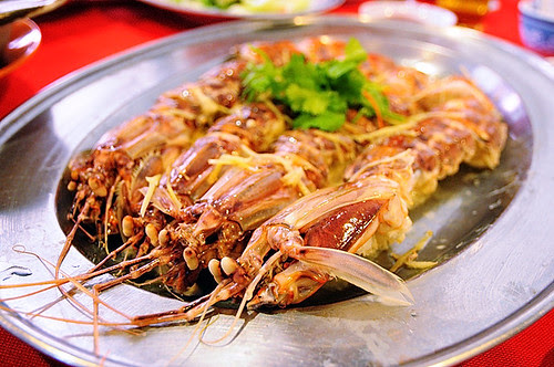 Mantis prawn dish, Ling Song Kee Seafood Restaurant at Pantai Remis, Perak, Malaysia DSC_5837
