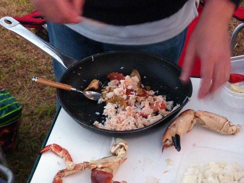 Crab meat picking