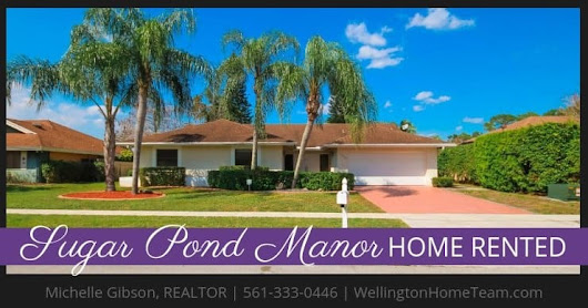 Sugar Pond Manor Home RENTED! 13459 Barberry Drive, Wellington, FL
