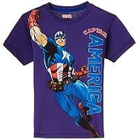 Avengers Boys' T-Shirt (AV0DBT789_Navy_11 - 12 years)